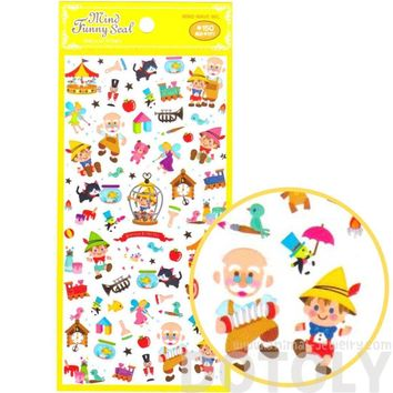 Pinocchio Fairy Tale Themed Storytelling Stickers for Scrapbooking