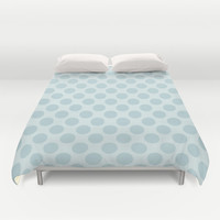 Pale Blue Polka Dots  Duvet Cover by KCavender Designs