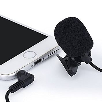 T-area Lavalier Microphone Clip-on Lapel Microphone Lapel Mic Condenser for Recording Youtube DSLR Interview And Outdoor Activities