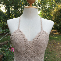 Crochet bikini Bikini top Brazilian bikini Cheeky bikini Festival Top Bra Made to Order Softness Bra for this Summer.