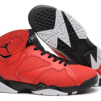 Cheap Nike Air Jordan 7 Retro Men Shoes Red Black White