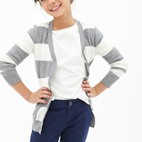 FOREVER 21 GIRLS Rugby-Striped Cardigan (Kids)