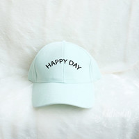 Happy Day Baseball Hat Embroidered Baseball Caps Hipster Fashion Cotton Hats Pinterest Instagram Tumblr