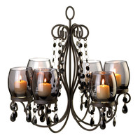 Smoked Elegance Candle Chandelier