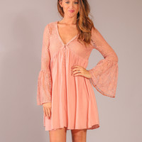 Harlow Dress - Dusty Rose