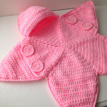 Shop Crochet Baby Bunting On Wanelo