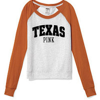 University of Texas Shrunken Raglan Tee - PINK - Victoria's Secret