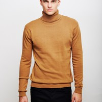 The Idle Man High Roll Neck Jumper Camel