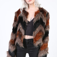 Festival Days Faux Fur Shaggy Jacket