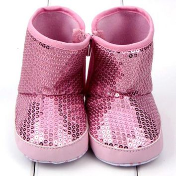 Baby Shoes High Boots Soft Sole Anti Toddler Boots