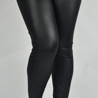 Sexy Plus Size Skinny Faux Leather Leggings