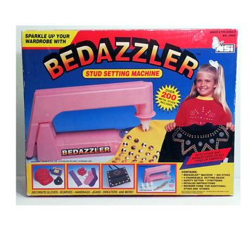 Vintage Pink Bedazzler in box with tons of studs and rhinestones!