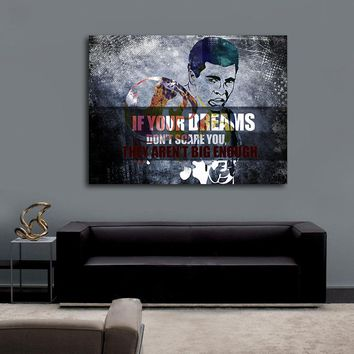 If Your Dreams Don't Scare You They Aren't Big Enough Canvas Wall Art