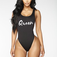 Verbiage Swimsuit - Black