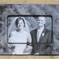 """Personalized Father of the Bride Picture Frame, Custom Wedding Picture Frame, The Original & Unique """"Picture in Picture"""" Photo Frame"""