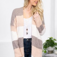 Dreamy Vanilla Color Block Popcorn Cardigan