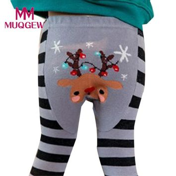 Hot Sale Children Kids Boys Girls Long Pants Fashion Cute Animal Pattern Christmas Legging for Newborn Baby Girls Pants