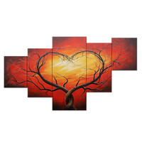 Tree of Love Landscape Canvas Wall Art Oil Painting