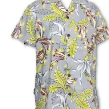 Mens Shirt in Tropical Print