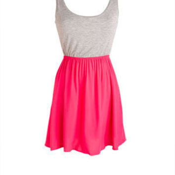Grey Pink 3 Bows Dress