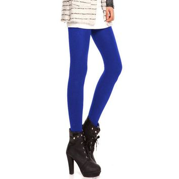 Women 120D Microfiber Thermo Fleece Lined Tights Thermo Pantyhose Solid Black Color Super Stockings Warm Winter Collant