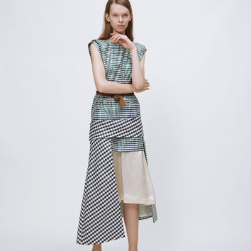 Totokaelo - TOGA Archives Green Gingham Check Dress 3 - $450.90