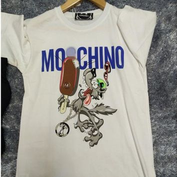 DCCKB62 Moschino Summer Printed Cotton T-Shirt