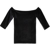 Mary Meyer Black Velvet Tina Top