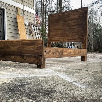 The Paxton reclaimed wood bed