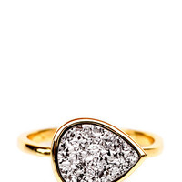 Drusy Drop Ring