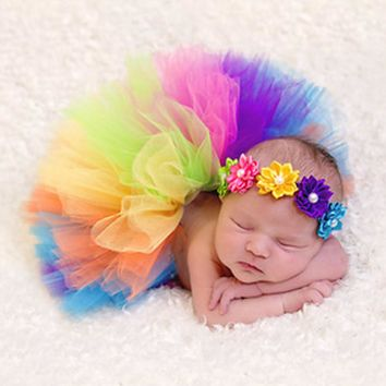 Baby Photography Props Infant Newborn Costume Tutu Dress Skirt Headband Peacock Handmade Crochet Beanie Beaded Cap 0-4M