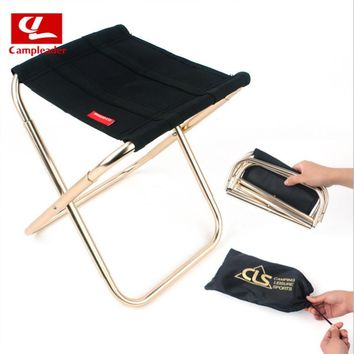 New Outdoor Lightweight Portable Folding Fishing Chair Camping Oxford Cloth Foldable Picnic Fishing Chair with Storage Bag CL190