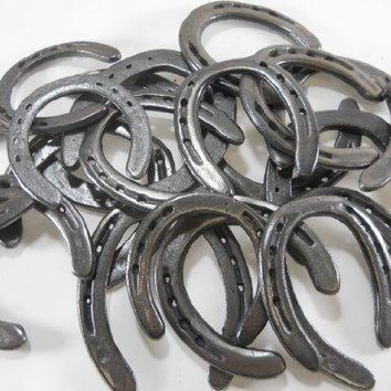 50 pc Cast Iron Horseshoes Mixed Sizes for Crafting