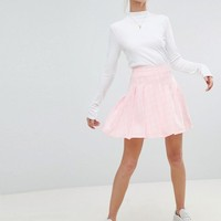 Daisy Street Pleated Mini Skirt In Check at asos.com