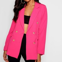 Double Breasted Boxy Blazer | Boohoo