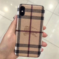 Burberry Fashion New Plaid Print Hard Shell Couple Protective Cover Phone Case