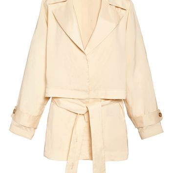 Washed Viscose Short Trench