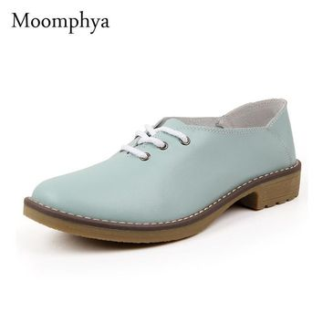 Genuine leather Oxford shoes for women flats new Fashion women shoes moccasins sapatos
