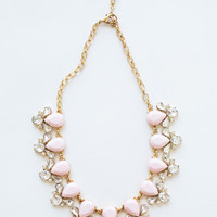 Tasha Light Pink Crystal Necklace