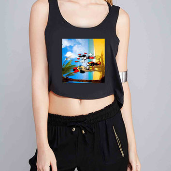 mickey mouse and minie mouse for Crop Tank Girls S, M, L, XL, XXL *07*