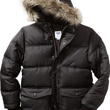 Old Navy Boys Faux Fur Trim Frost Free Jacket