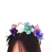 Mermaid Flower Crown Headband