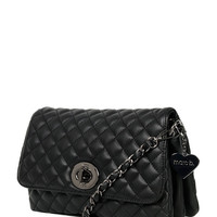 Yaz Black And Pewter Quilted