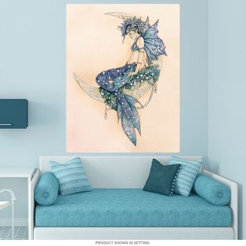 Mermaid Fairy On The Moon Wall Decal