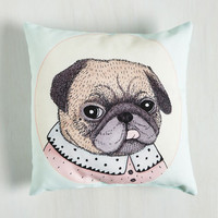 Dorm Decor Paws for Reflection Pillow in Pug by ModCloth
