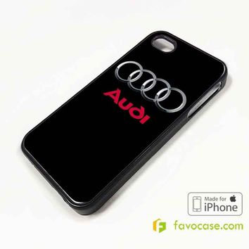 AUDI Car Logo iPhone 4/4S 5/5S/SE 5C 6/6S 7 8 Plus X Case Cover
