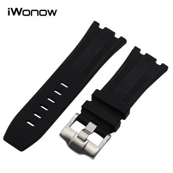 28mm Silicone Rubber Watchband for AP Audemars Piguet Royal Oak Offshore Watch Band Stainless Steel Buckle Strap Wrist Bracelet