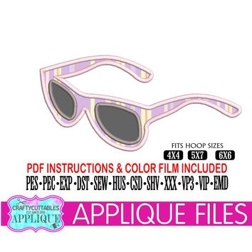 Sunglasses Applique,Sunglasses Applique File,Sunglasses Embroidery,Sunglasses Appliques,Sunglasses Files,Cricut Designs,Silhouette Designs