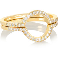 Ileana Makri - Circle set of two 18-karat gold diamond rings