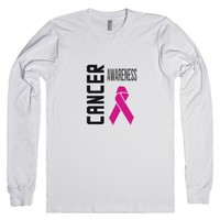 Cancer Awareness Pink-Unisex White T-Shirt